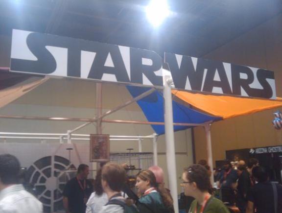 Starwars Booth Banner at Phoenix Comicon